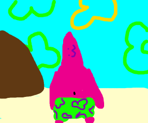 Patrick Star with an anime :3 face