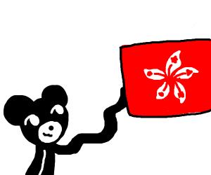 Mickey Mouse supports free Hong Kong