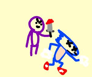 purple guy killed sonic the hedgehog