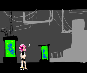 Octoling is unphased by toxic waste