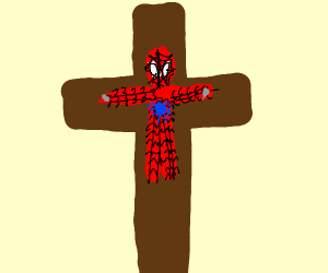 Spider-Man getting crucified