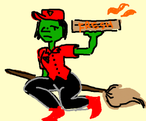 Pizza delivery witch
