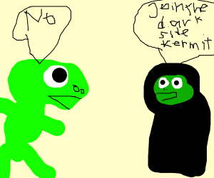 kermit meets Sith version of himself