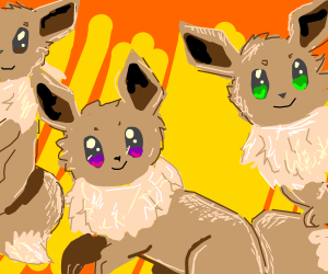 so many eevees!!!