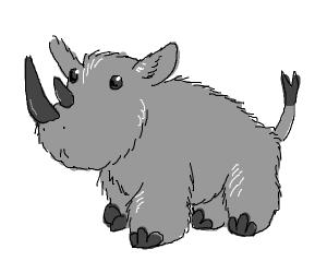 fuzzy rhinoceros