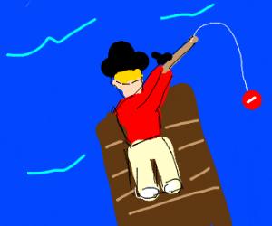 Hat man fishing