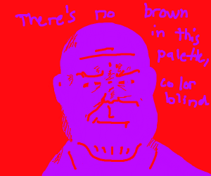 Smug brown Thanos