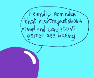 purple blob wants you to derail the game