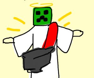 Creeper Jesus uses anvil
