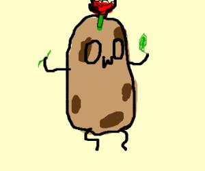 Potato dresses up as a rose! OwO