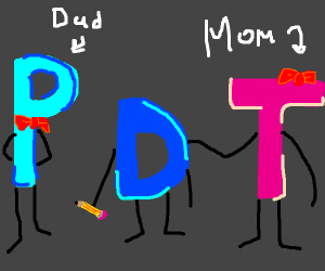 Drawception D with its parents, P and T