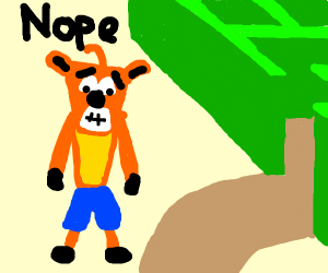 Crash Bandicoot doesn't want to go in maze
