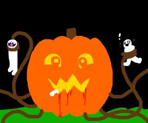 Human-eating pumpkin