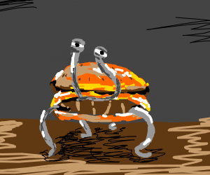 creepy yet beautiful hamburger thing
