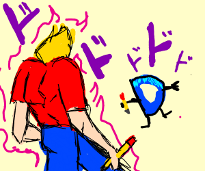 Dio walking meme, but it's Jazza and D