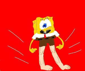 Spongebob with human legs