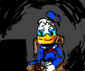 Donald Duck with a remote