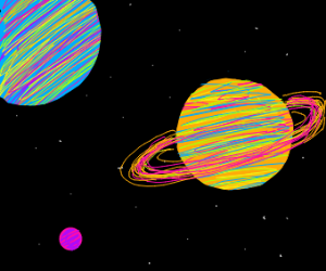 Beautifully drawn planets