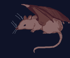 Rat with wings