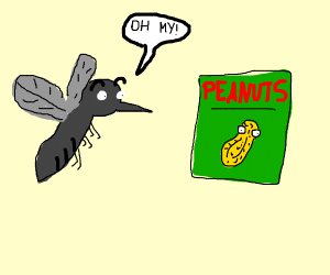 Mosquito discovering Peanuts