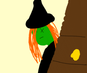 The Wicked Witch of the West had an accident