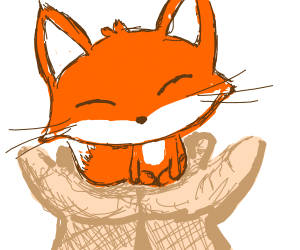 why does this fox fit in my hand?