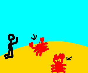 its the crabs