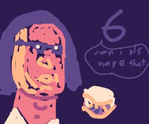 6 wants a sandwich from E