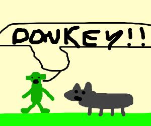 Shrek shouts: DONKEY!
