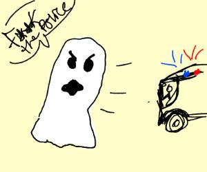 Ghost resists arrest