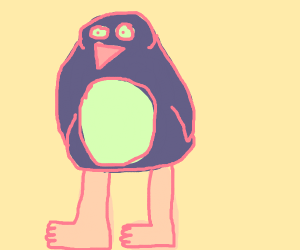 Penguin but with realistic human legs