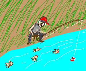 Disappointing fishing at Severed Hand Lake