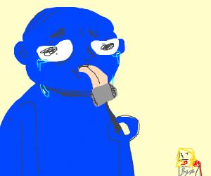 sad blue giant licks thor's hammer