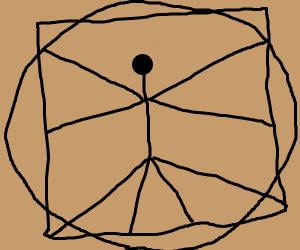 The Vitruvian Stickman