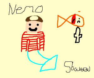 Shark reporter reports that nemo got stabbed