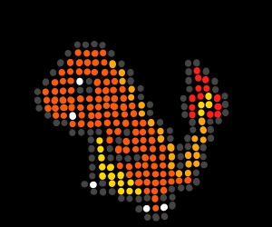 Pixelated charmender