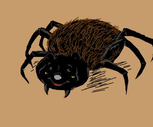 Spider with Pooh face