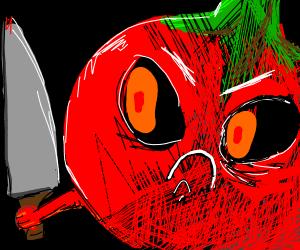 Bloodthirsty tomato