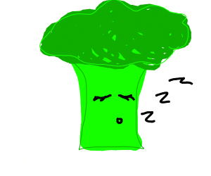 Sleeping Brocolli
