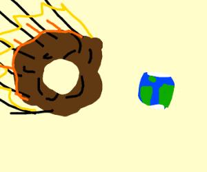 Donut meteor headed towards Earth