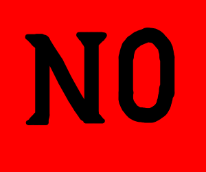 """""""NO"""". P.S. maybe someone derailed"""