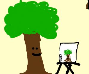 bob ross but tree