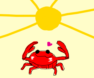 crab wants Sun to notice him