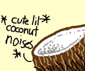 Coconut making funny coconut noises