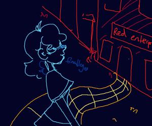 Blue girl and a Enterprise