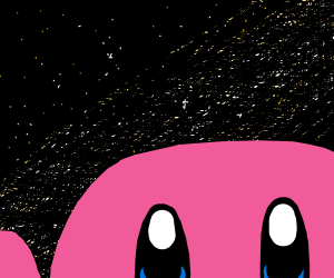 Kirby surrounded by stars