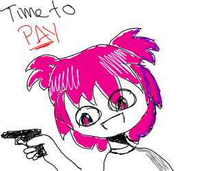 Anime girl looking payful