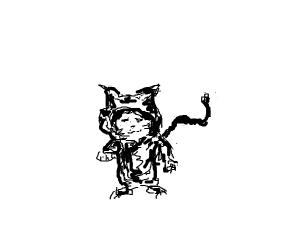 Kid in Cat Costume