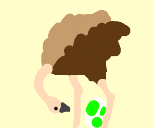 Ostrich with Yoshi egg