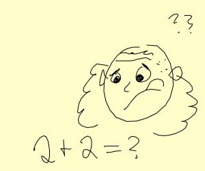 Albert Einstein not knowing quick maths